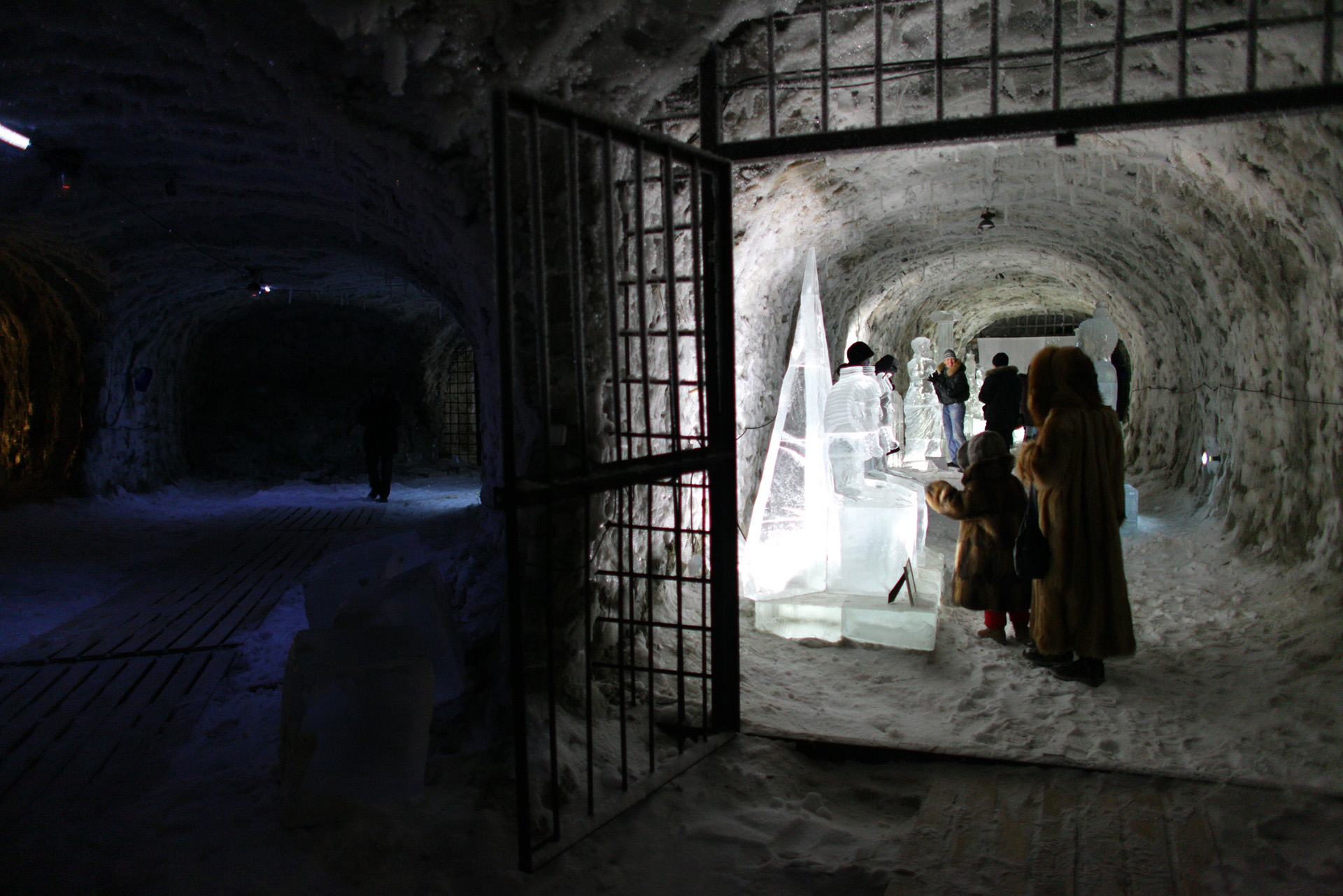 Exhibition of ice sculptures