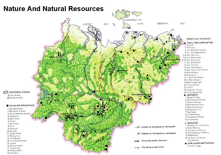 Natural Resources Sakha Yakutia Heart Of Siberia - Map of egypt's natural resources