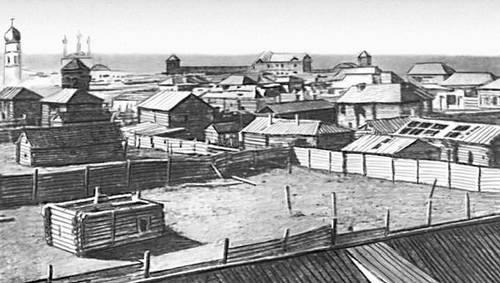 General view of Yakutsk in the second half of the XIX century