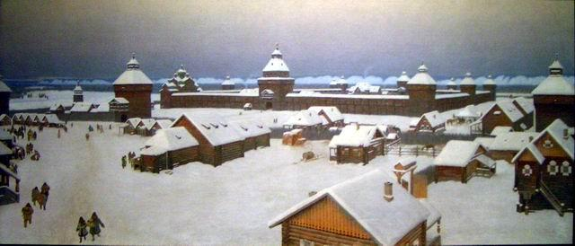 The picture of Yakutsk in the early XVIII century